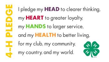 Image of 4-H pledge